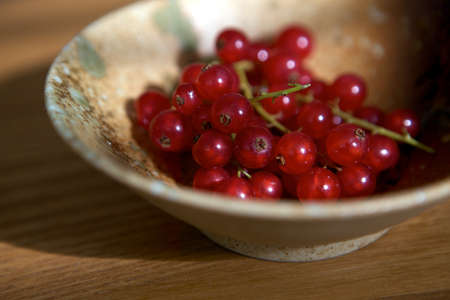 A bowl of redcurrants  Stock Photo