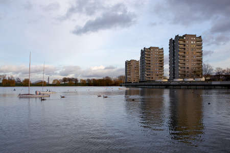 Council Housing, Southmere Lake, Thamesmead, UK