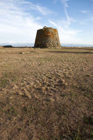 Nuraghe Santa Sabina, a simple bronze age tower, Sardinia, Italy