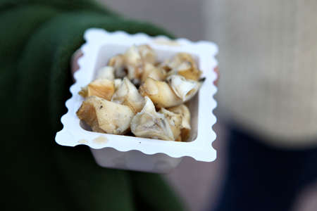 Pickled whelks are a traditional seafood snack in the United Kingdom