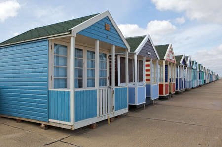 Beach huts in Southwold, Suffolk photo