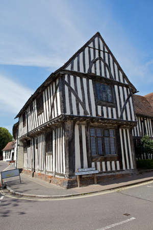 Half-timbered medieval cottage in Lavenham, Suffolk  Editorial