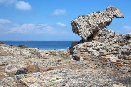 Ruined building at Tharros, Sardinia