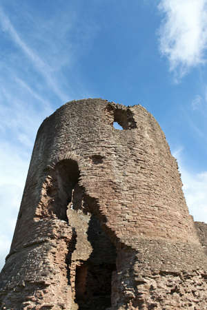 The ruined Great Tower of Skenfrith Castle