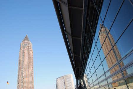 messe: Office Buildings, Frankfurt  Stock Photo