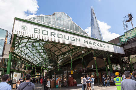 Entrance to Borough Market, near London Bridge Sajtókép