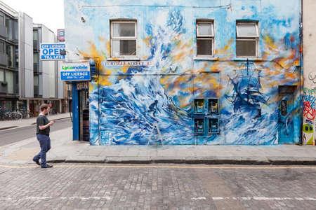 런던의 거리 예술 에디토리얼