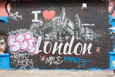 east end: Street art in London