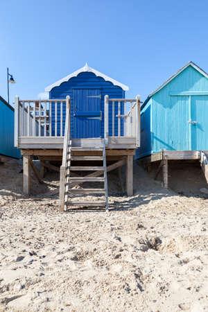 felixstowe: Blue beach huts