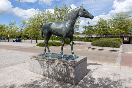 elisabeth: Black Horse, by Elisabeth Frink, in Milton Keynes Editorial