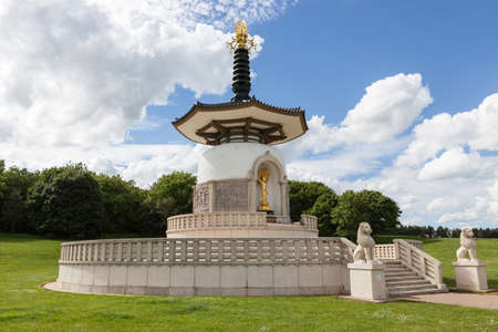 Peace Pagoda, Milton Keynes, Buckinghamshire, UK.