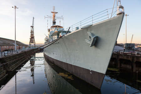 hms: The HMS Cavalier used to serve in the icy arctic but is now on display at The Historic Dockyard Chatham.