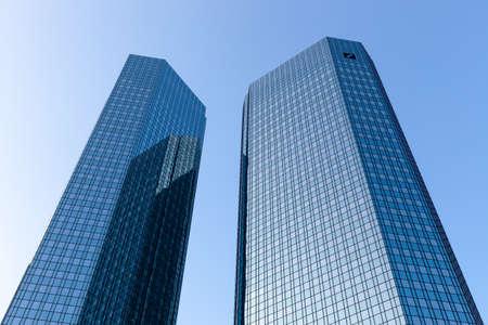 The Deutsche Bank Twin Towers, also known as Deutsche Bank Headquarters, in Frankfurt. Editorial