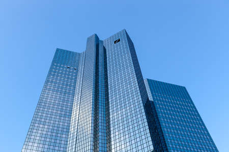 The Deutsche Bank Twin Towers, also known as Deutsche Bank Headquarters, in Frankfurt. Editorial