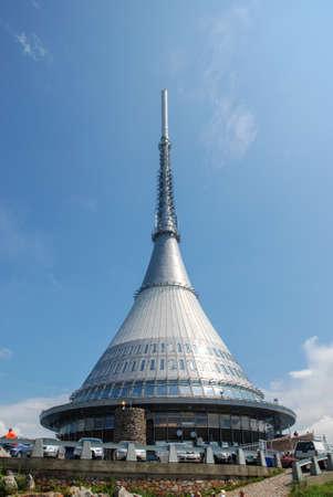 리베 레츠, 체코에서 Jested 타워의 전망.