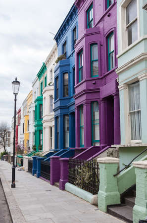 colorful: Colourful houses in Notting Hill, London