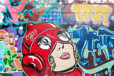 Street art hors Brick Lane, Londres Banque d'images - 39366950