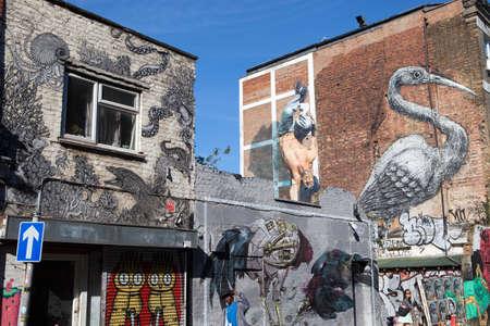 Street art off Brick Lane, London 報道画像