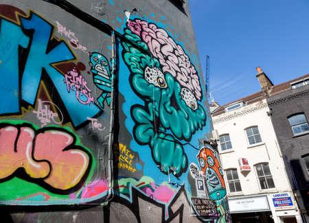 벽돌 레인, 런던에서 거리 예술