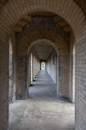 Colonnade with a diminishing perspective