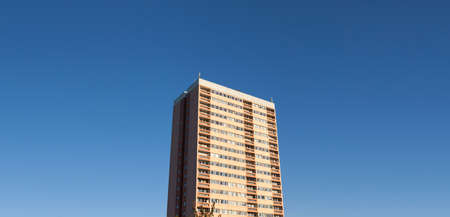 refurbish: Generic high-rise housing in the UK, with copy space.