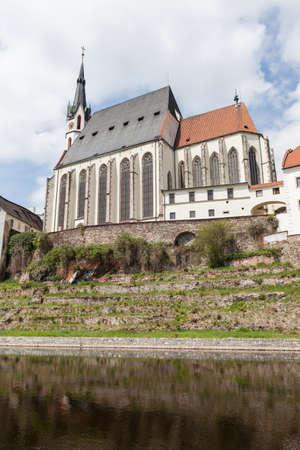 성 비투스 교회에서 Cesky 로프, 체코 스톡 콘텐츠