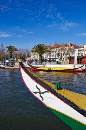 Typical Moliceiro in Vouga river in Averiro  Portugal  Stock Photo - 18114002