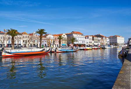 bandera de portugal: vista desde el canal de Aveiro, Portugal