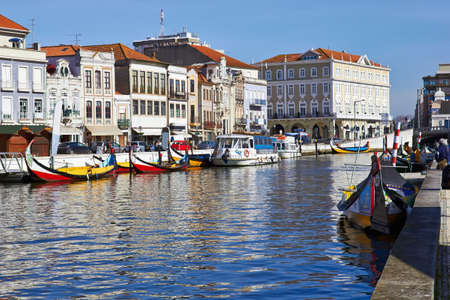 traditional Portuguese boats in Averiro  Portugal