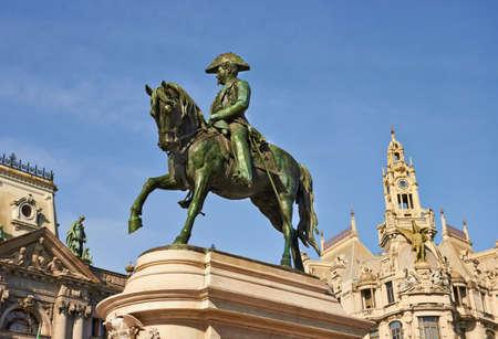 The monument of the king Pedro IV, Porto, Portugal Stock Photo - 18127115