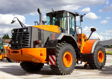 construction vehicle: New and modern Construction Vehicle Stock Photo