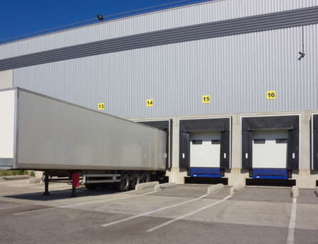 trailer of truck at loading
