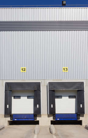 Loading dock doors at warehouse  photo