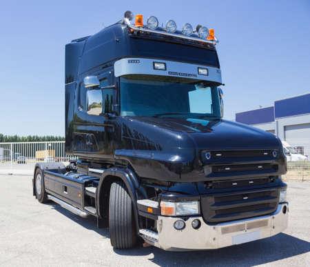 Black truck  photo