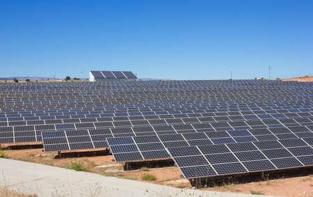 nonpolluting: Solar Power Station against blue sky