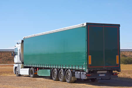 Lorry-load view from behind Stock Photo - 18152313