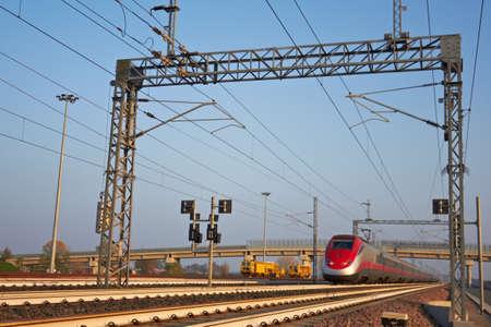 highspeed: high-speed train vanishing into the distance