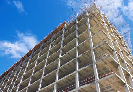 construction site: Concrete strengthening of highrise Construction Site