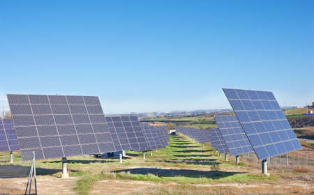 resourceful: Solar Panels on a big field
