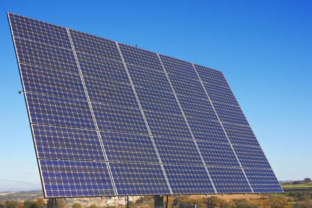 nonpolluting: Solar Panel against blue sky Stock Photo