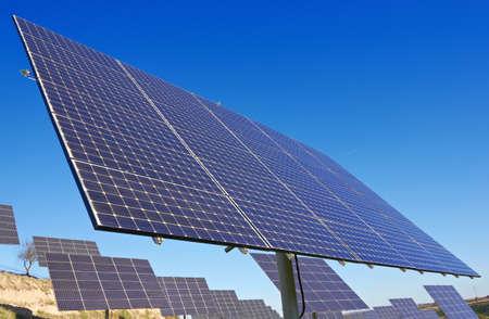 nonpolluting: Solar Panels against blue sky