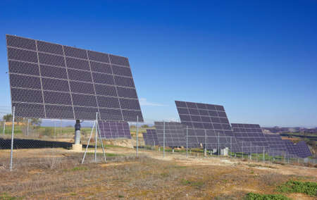 resourceful: Solar Panels on a green field