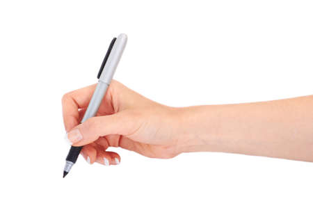 Woman hand with a pen Stock Photo - 18287203
