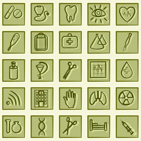 birth control: Medicine icons Illustration