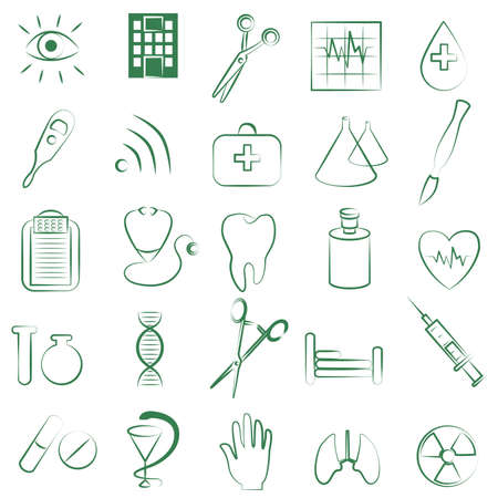 Medicine and Health vector icons Vector