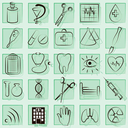 surgical needle: Medicine and Health vector icons