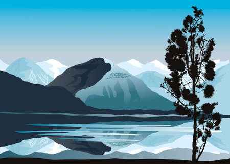capped: A snowy mountain Illustration