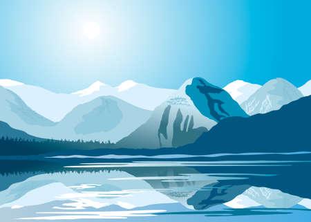 Polar landschap Stock Illustratie