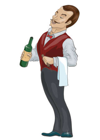 refine: Haughty waiter
