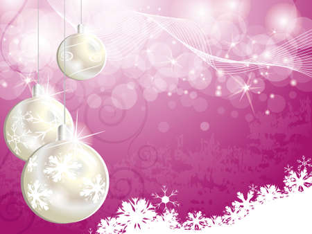 Pink Christmas backgrounds for design Stock Vector - 18420233